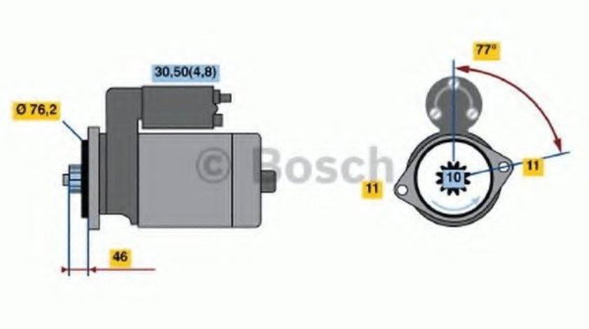 Starter VW GOLF V Variant (1K5) (2007 - 2009) BOSCH 0 001 123 016 produs NOU