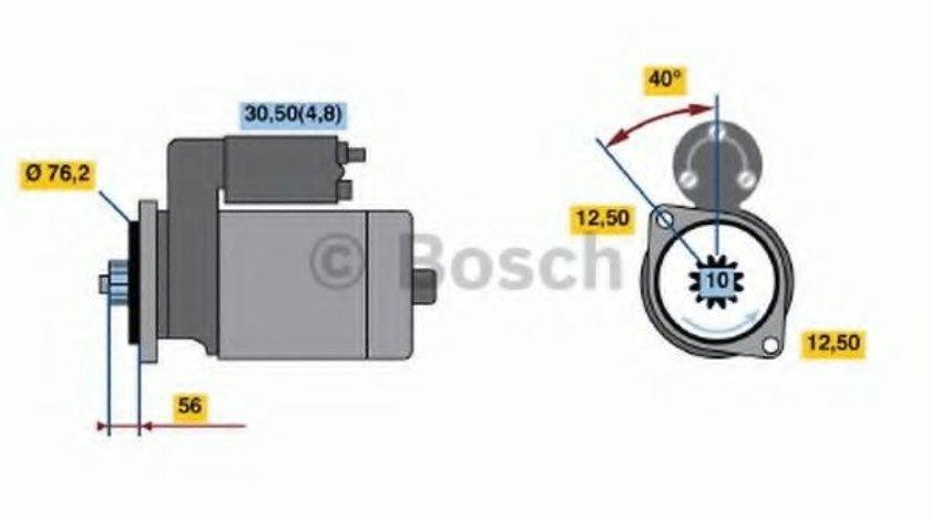 Starter VW GOLF V Variant (1K5) (2007 - 2009) BOSCH 0 001 120 406 produs NOU
