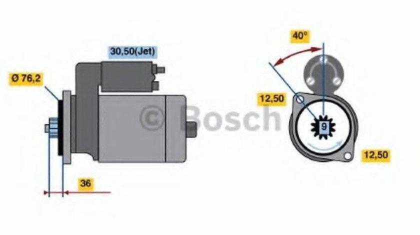 Starter VW NEW BEETLE (9C1, 1C1) (1998 - 2010) BOSCH 0 001 121 028 piesa NOUA