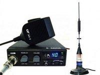Statie Radio CB CRT S Mini  + Antena CB Premier Delta Magnetica