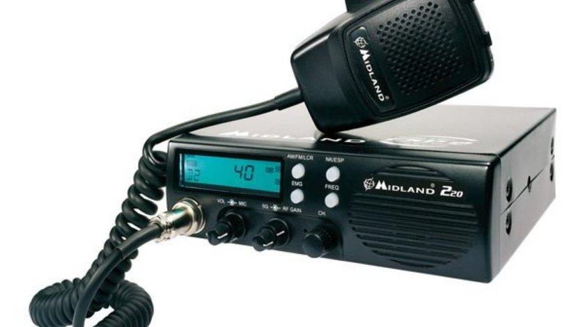 Statie radio CB Midland 220 Cod C860 15 W SI Difuzor Frontal
