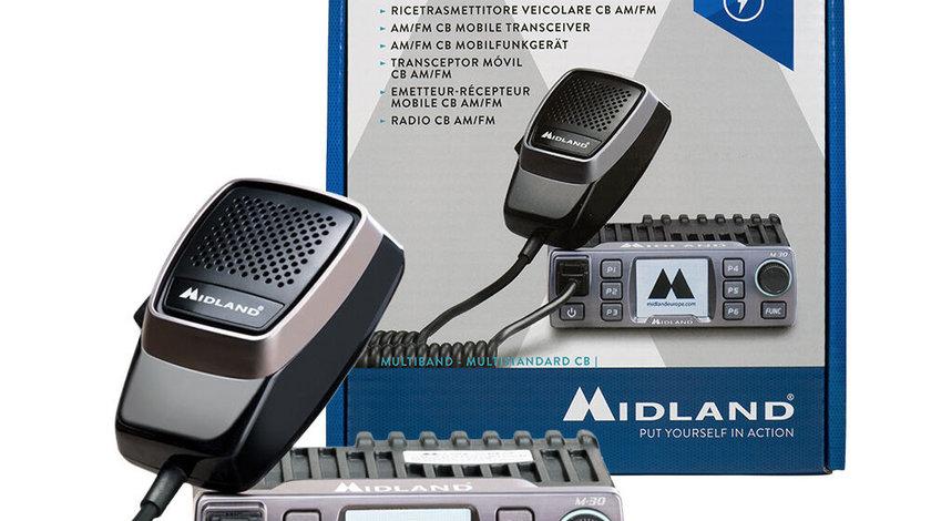 Statie Radio CB Midland M-30 Cod C1313 4W 12-24V ASQ RF Gain RB SWR metru