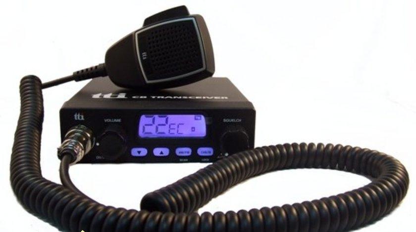Statie radio CB TTi TCB 1000 squelch automat cu mufa bricheta inclusa