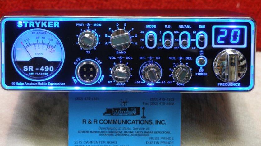 STATIE RADIO STRYKER SR 490 HP PUTERE 100W CEA MAI PUTERNICA STATIE DIN LUME