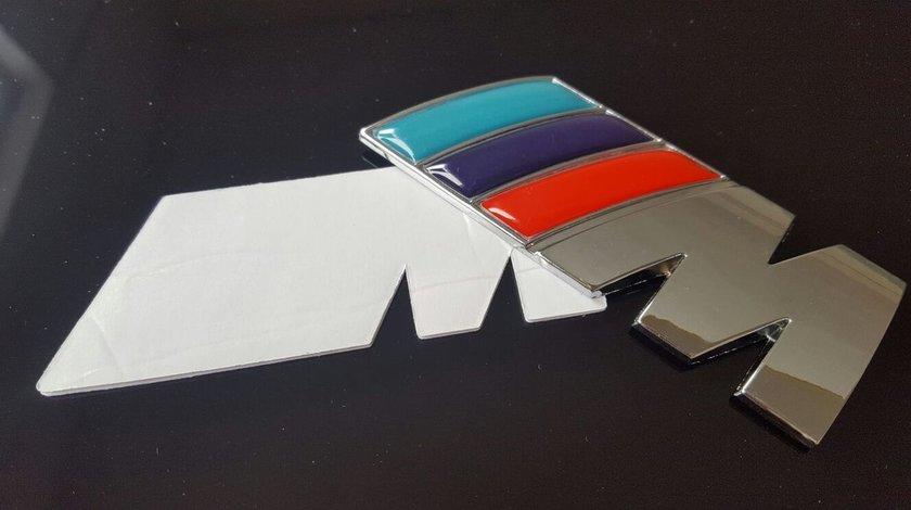 Sticker/logo/emblema M POWER BMW din metal pentru portbagaj