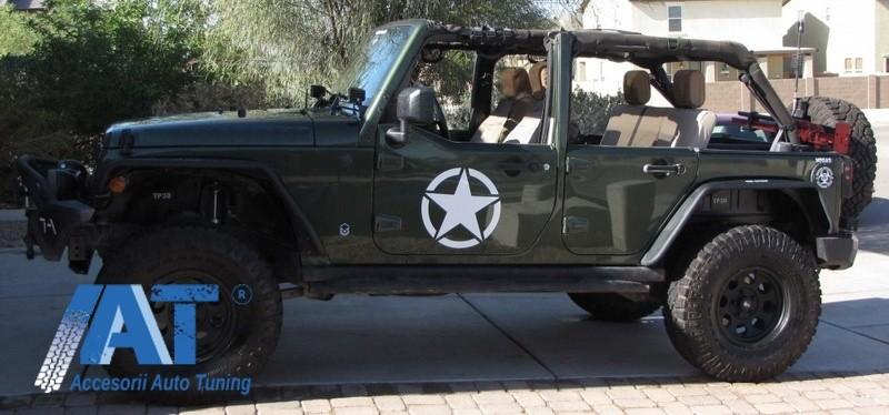 Sticker Stea ALB Universal compatibil cu Jeep, SUV, Camioane sau alte Autoturisme