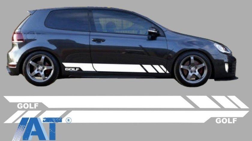 Stickere Laterale ALB compatibil cu VW Golf 5 6 7 V VI VII (2003+)