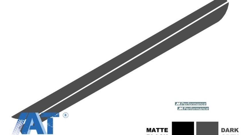 Stickere Laterale compatibil cu BMW Seria 5 F10 F11 (2011-up) M-Performance Design Gri Inchis