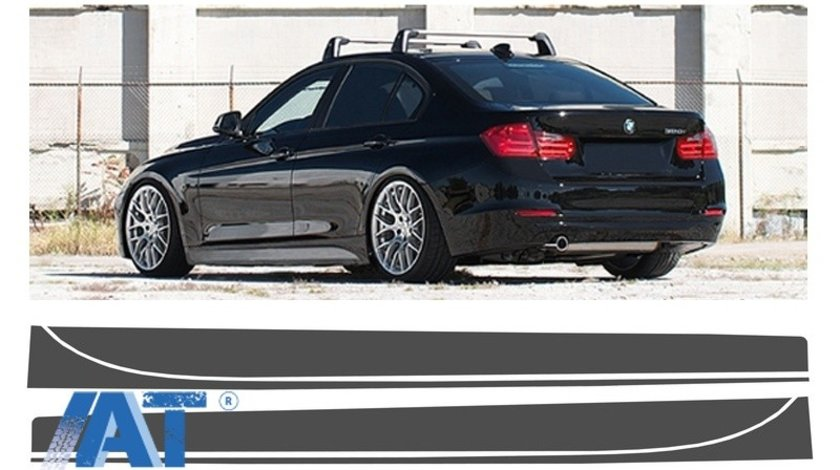 Stickere Laterale Gri Inchis compatibil cu BMW Seria 3 F30 F31 (2011-up) M-Performance Design