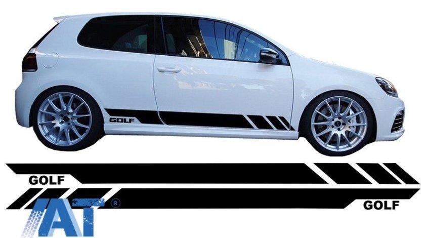 Stickere Laterale Negru compatibil cu VW Golf 5 6 7 V VI VII (2003+)