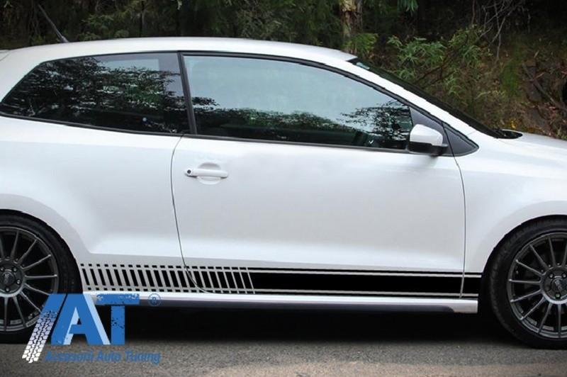 Stickere Laterale NEGRU MAT compatibil cu VW POLO Golf 5 6 7 V VI VII (2003-up)