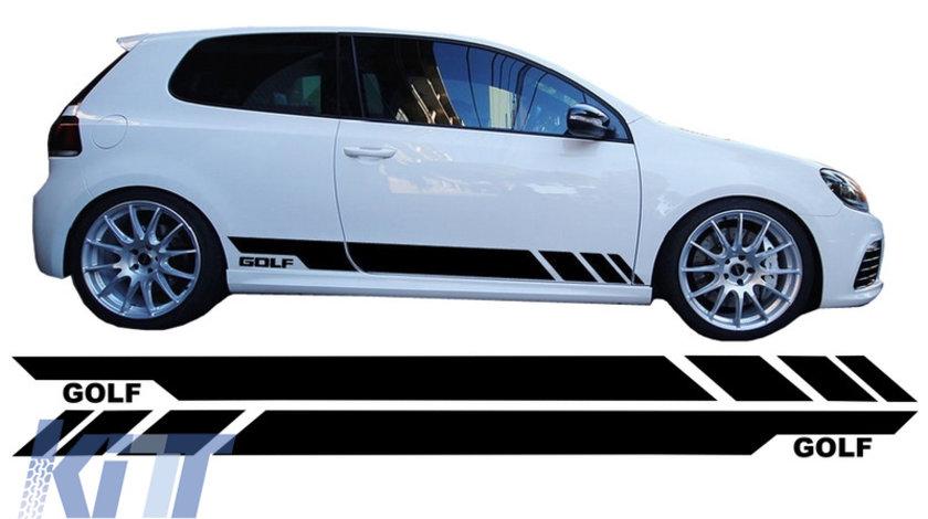 Stickere Laterale Negru VW Golf 5 6 7 V VI VII (2003+) KTX2-STICKERVWG5B