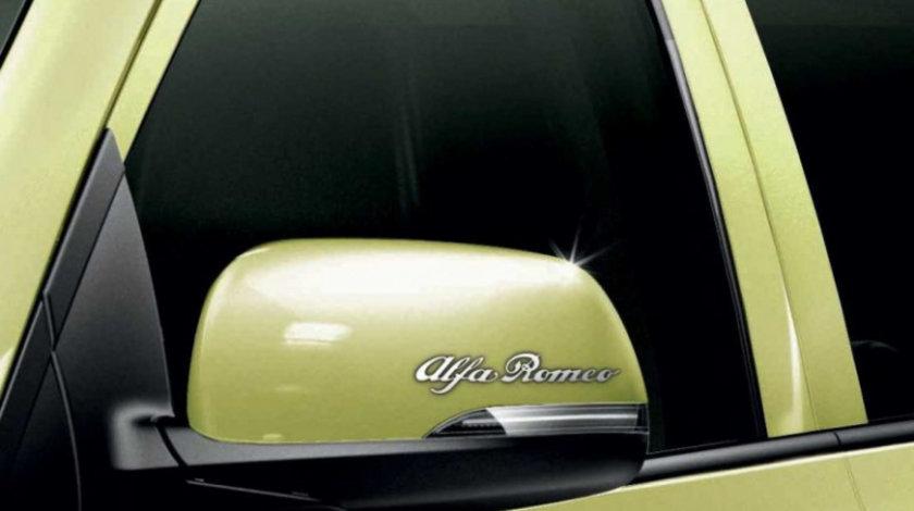 Stickere oglinda CHROME - ALFA ROMEO (set 2 buc.) Modern Tuning