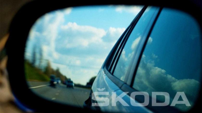 Stickere oglinda ETCHED GLASS - SKODA (set 3 buc.) Modern Tuning