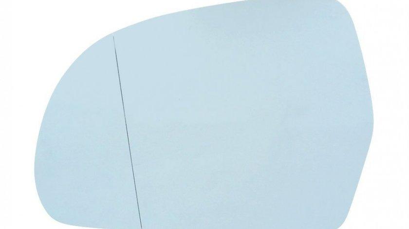 Sticla oglinda Audi A3 2008-2010, A4/A5 B8 2008-2010, A6 (C6) 10.2008-03.2011, A8 2007-2010, Q3 8U 2011-2015, Skoda Octavia 2 2008-2013, Superb 2008-2013 partea stanga BestAutoVest Albastra Asferica C