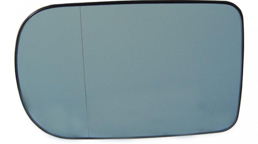 Sticla oglinda Bmw Seria 5 (E39) 10.1997-06.2004 , Seria 7 E38 1994-2001, partea stanga Best Auto Vest Albastra Asferica Cu incalzire