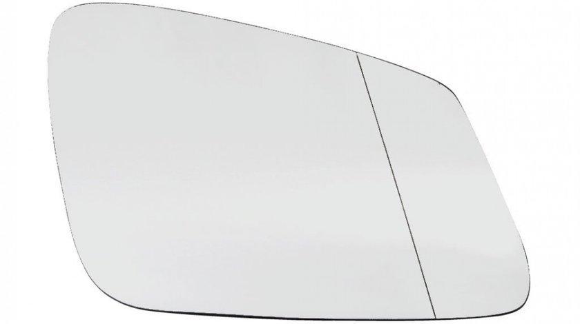 Sticla oglinda Bmw Seria 5 (F10/F11) 12.2009- , Seria 6 (F12/F13), 02.11- , Seria 7 (F01/F02) 10.2008- , partea dreapta MaxView Crom Asferica Cu incalzire