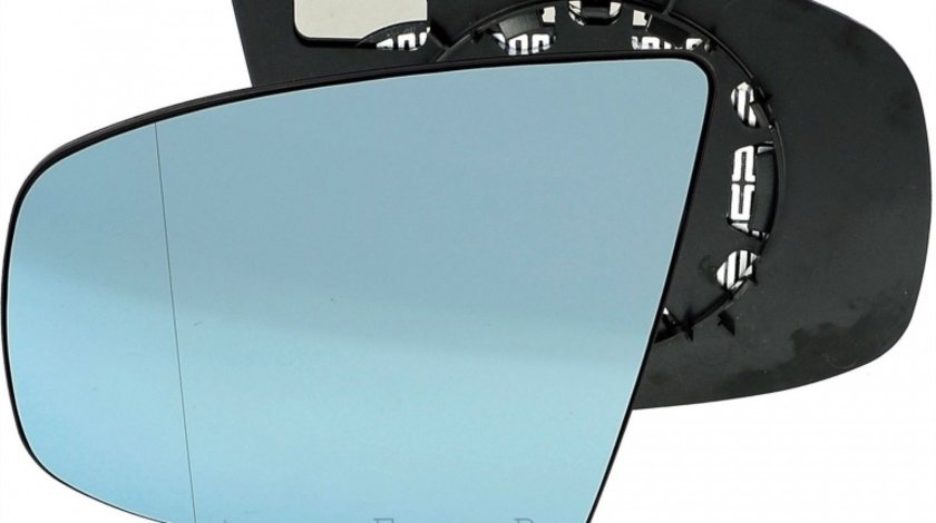 Sticla oglinda Bmw X5 E70 10.2006-2013 X6 E71 2008-2014 partea stanga Best Auto Vest Albastra Asferica Cu incalzire