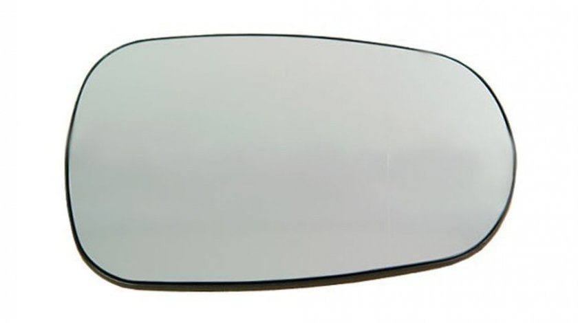 Sticla oglinda Dacia Logan (Sd), 07.2004-.2007, Nissan Micra (K12), 01.2003-2010, Renault Clio 2 (B0/1/2), 09.1998-06.2001, partea Dreapta, culoare sticla crom, sticla convexa, cu incalzire, 770104025