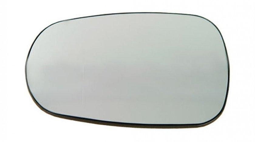 Sticla oglinda Dacia Logan (Sd), 07.2004-2007, Nissan Micra (K12), 01.2003-2010, Renault Clio 2 (B0/1/2), 09.1998-06.2001, partea Stanga , Dreapta, culoare sticla crom, sticla asferica, cu incalzire,