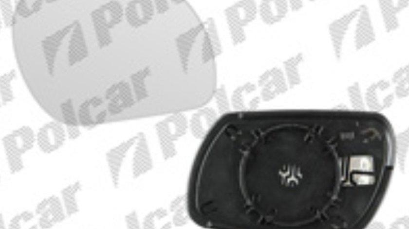 Sticla oglinda Mazda 2 (Dy), 04.2003-10.2007, Mazda 3 (Bk), 10.2003-07.2009, Dreapta, Cu incalzire, Convex, BestAutoVest DD21691G1A; DD21-69-1G1A 4525555E
