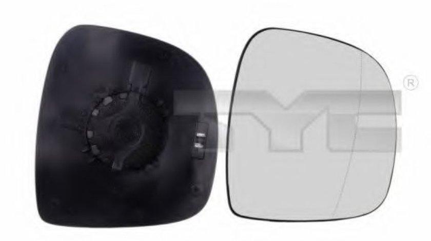 Sticla oglinda, oglinda retrovizoare exterioara MERCEDES VITO / MIXTO caroserie (W639) (2003 - 2016) TYC 321-0098-1 piesa NOUA