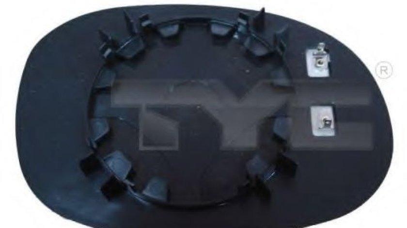 Sticla oglinda, oglinda retrovizoare exterioara PEUGEOT 206 CC (2D) (2000 - 2016) TYC 326-0016-1 piesa NOUA