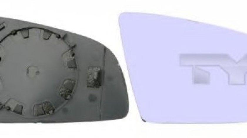 Sticla oglinda, oglinda retrovizoare exterioara AUDI A6 Avant (4F5, C6) (2005 - 2011) TYC 302-0035-1 piesa NOUA