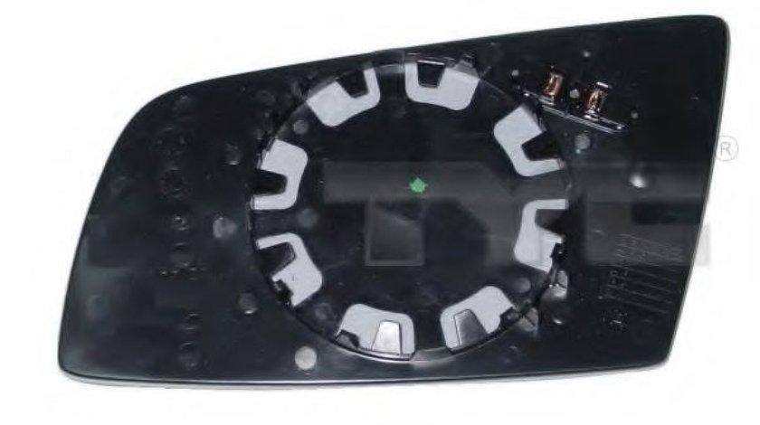 Sticla oglinda, oglinda retrovizoare exterioara BMW Seria 5 (E60) (2003 - 2010) TYC 303-0089-1 piesa NOUA
