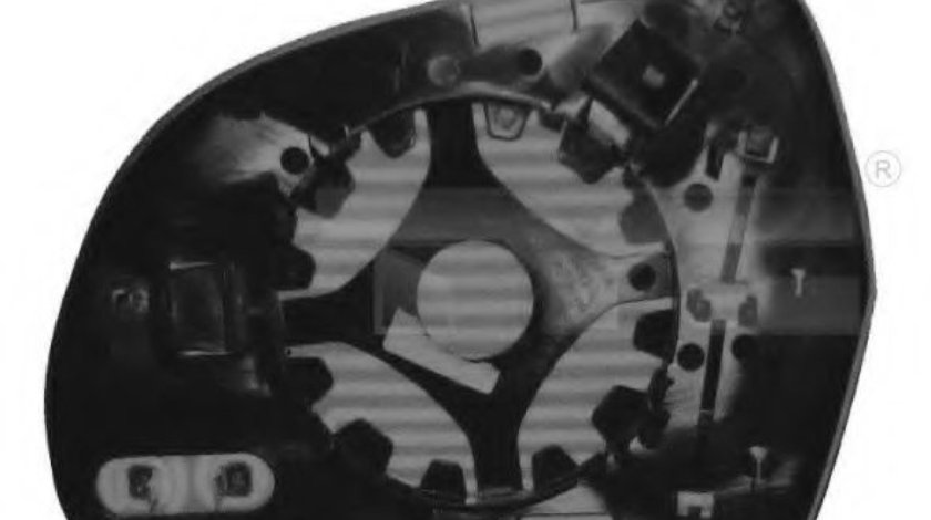 Sticla oglinda, oglinda retrovizoare exterioara AUDI Q3 (8U) (2011 - 2016) TYC 302-0072-1 piesa NOUA