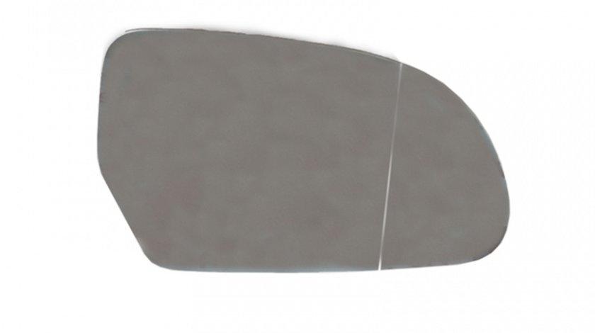 Sticla oglinda Skoda Octavia 2 2008-2013, Superb 2008-06.2013, Audi Q3 2011-2015, A3 2008-2010, A4 B8 2007-, A6 2008-2011, A5 2007-2010, A8 2007-2010, electrica incalzita dreapta