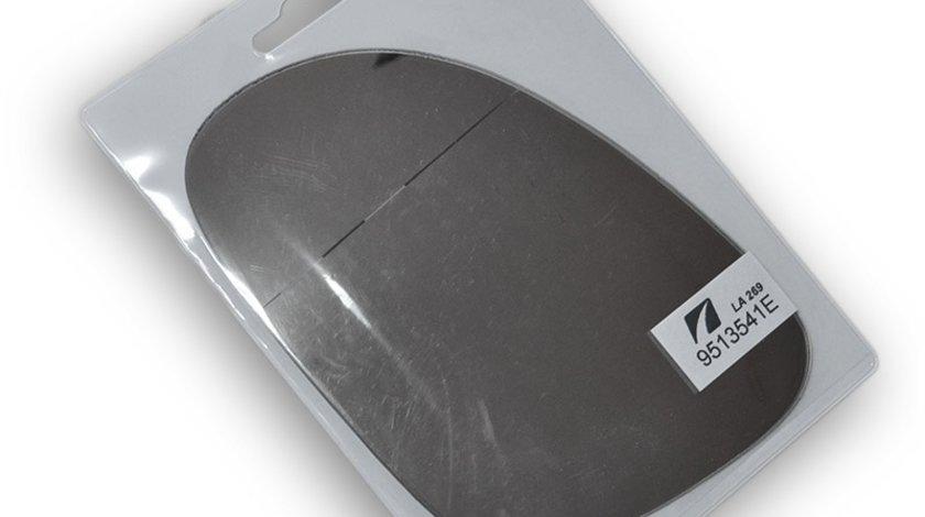 Sticla oglinda Skoda Superb 3U4 2004-2008 Vw Golf 5 Jetta Sharan 2004-2010 Passat 2003-2011 Seat Alhambra exterioara stanga geam crom convex cu banda adeziva