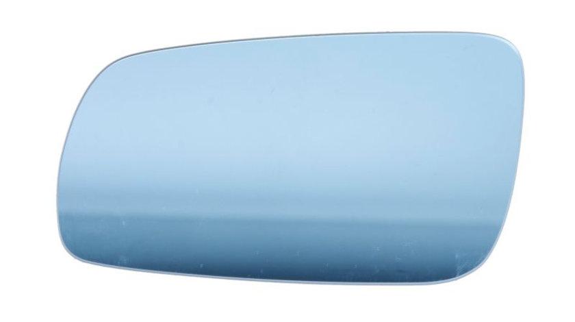 Sticla oglinda stanga incalzita, albastru VW BORA, GOLF, LUPO, PASSAT 1996-2006