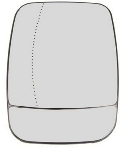 Sticla oglinda stanga Renault Trafic 3 / Opel Vivaro B 963666705R ( LICHIDARE DE STOC)