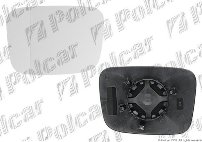 Sticla oglinda Volkswagen Transporter T5 2003-2009 Caddy 3/Life 2004-06.2010 si 2010- , dreapta asferica sticla crom fara incalzire Kft Auto