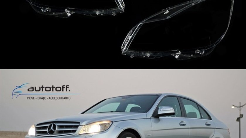 Sticle faruri Mercedes C-Class W204 Facelift (2011-2014)
