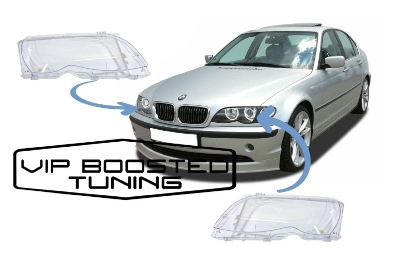 Sticle Faruri sticla far BMW Seria 3 E46 TOURING (2001-2004) Facelift