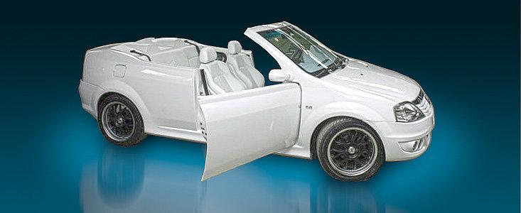 STIRE BOMBA! Poze reale cu Dacia Logan decapotabila!