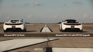Stock sau tunat? McLaren MP4-12C versus Hennessey MP4-12C!
