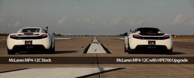 Stock sau tunat? McLaren MP4-12C versus Hennessey MP4-12C!