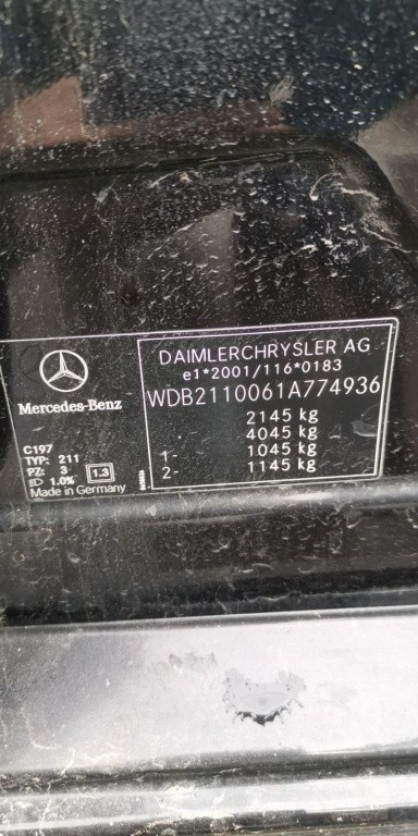Stop dreapta spate Mercedes E-Class W211 2005 sedan 2.2 cdi