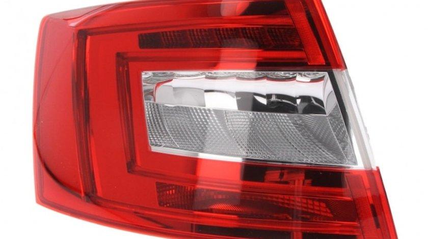 Stop spate lampa Skoda Octavia 3 (5E), 01.2013-05.2017 Model Sedan/Liftback, partea Stanga, fara suport becuri, tip bec H21W+LED+PY21W, Hella Kft Auto