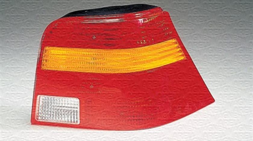 Stop tripla lampa spate stanga (semnalizator portocaliu, culoare sticla: rosu) VW GOLF 4 1998-2001