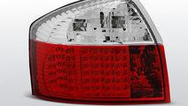 Stopuri Audi A4 2000-2004 Rosu Alb pe LED