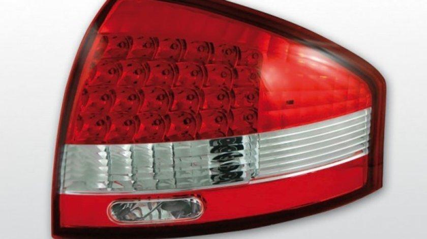 Stopuri Audi A6 1997-2004 Rosu Alb pe LED