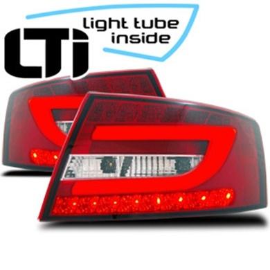 Stopuri Audi A6 4F C6 cu fibra NEON si LED