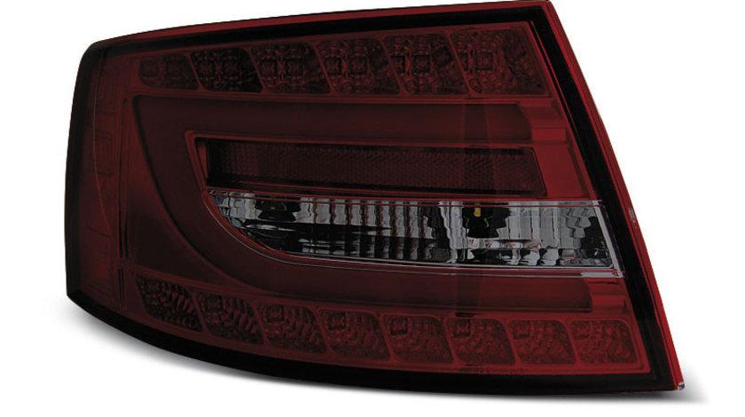 Stopuri Audi A6 C6 Sedan 2004-2008 Rosu Fumuriu LED 7PIN