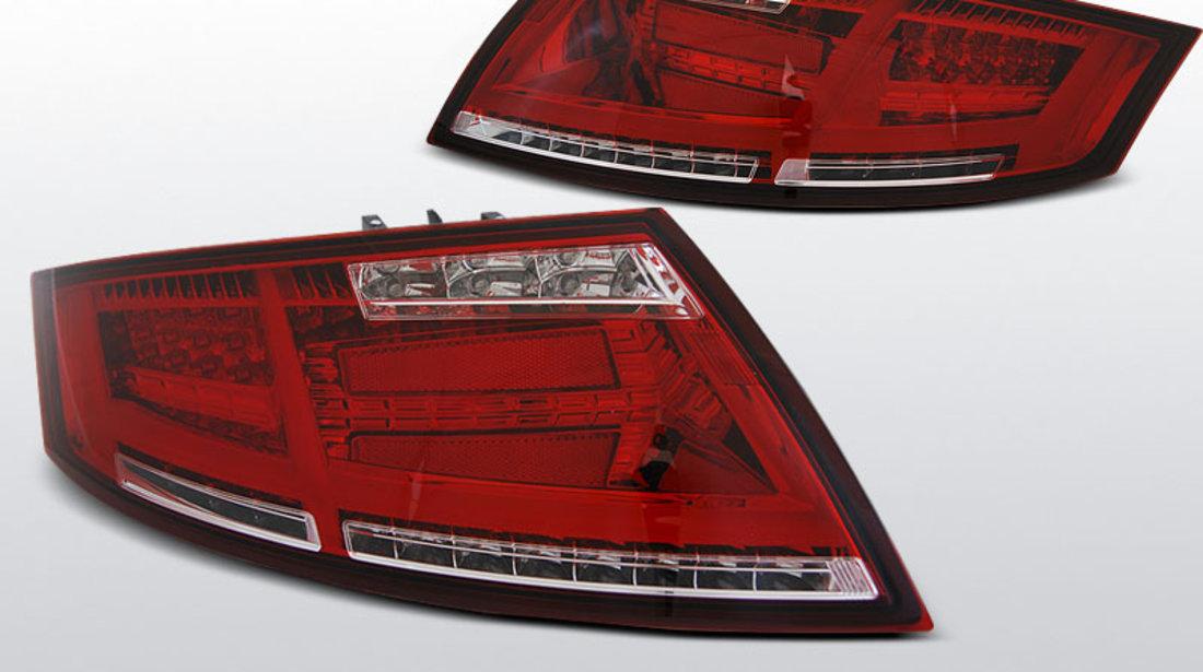Stopuri AUDI TT 04.2006-02.2014 ALB-ROSU cu  LED