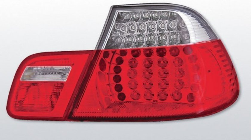 STOPURI BMW E46 AN 1999-2003 COUPE ROSU ALB LED