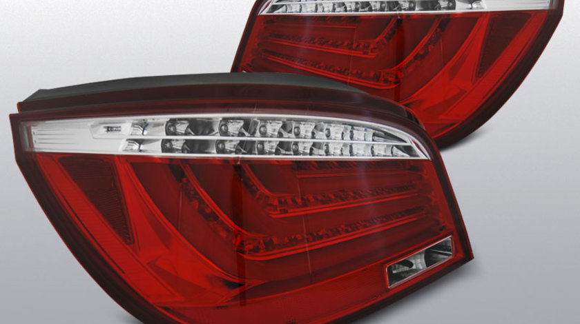 Stopuri BMW E60 07.03-02.07 rosu cu LED BAR alb